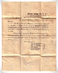 1848 Augusta to Declaration of Independence Signors George Walton and Lyman Hall