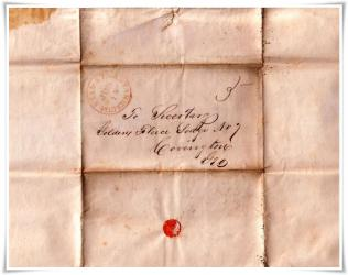 1848 Declaration of Independence Signors George Walton and Lyman Hall Back