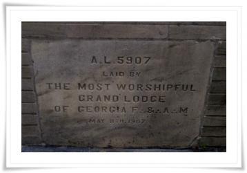 1907 cornerstone at atlanta masonic center